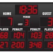Табло хоккейное - модель 6200 для крытых помещений фото