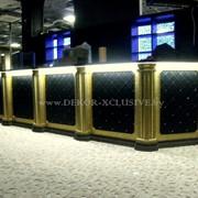 Отделка бар стоек,ресепшен,колонн фото
