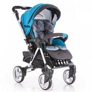 Детская прогулочная коляска Capella Play голубой S709 BK фото