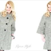 Пальто женское «КАРИНА» крапинка фото