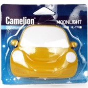 Camelion NL-196 ночник св/д 0.5W 95x75x80 Машинка желтая, 220V, пластик, выкл. фото