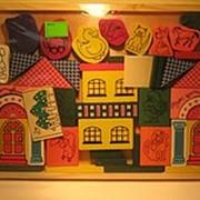 Детский деревянный конструктор «Дом с колоннами» . фото