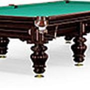 Бильярдный стол для русского бильярда Turin 12ф (черный орех) фото