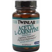 Twinlab Acetyl L-Carnitine 500 mg. 120 caps. Ацетил L-карнитин в капсулах. фото