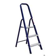 Стремянка стальная (3 ступени) синяя, 60 см фото