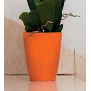 """Кашпо пластиковое """"Орхидея квадрат"""" оранжевое OSK 12 фото"""