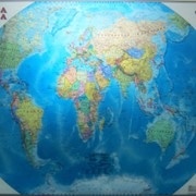 Настенная карта мира фото
