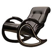 Кресло-качалка, модель 7 экокожа черная фото