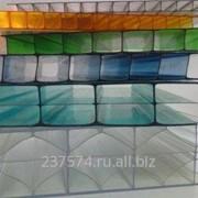 Сотовый поликарбонат 16 мм. цветной фото