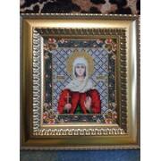 """Вышивка бисером икон (""""Икона святой мученицы Наталии"""") фото"""