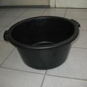Таз 19л полиэтилен (черный) фото