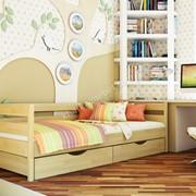 Кровать в щите НОТА ПЛЮС (колір -102)* 80х190 фото