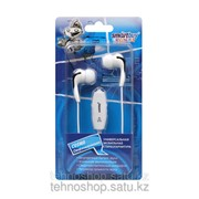 Мобильная стереогарнитура SmartBuy® Cosmo, регулятор громкости 3.5мм, универсальный черно-белый SBH-8250 /200 фото