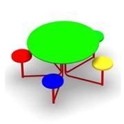 Стол с сидениями СМ.10.02. фото