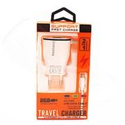 Сетевое Зарядное Устройство SUPPORT Fast Charge Micro USB White (Белый) фото