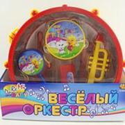 """Набор игрушечных музыкальных инструментов """"Веселый оркестр"""" в барабане фото"""