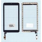 Сенсорное стекло (тачскрин) для Alcatel OneTouch I216X Pixi 7 черное, Диагональ 7 фото