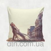 Подушка декоративная с принтом Ажур фото