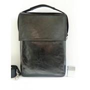Кожаная сумка мужская формата А-4 фото