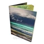 Стильная обложка на паспорт Море фото