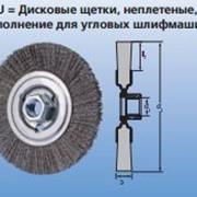 Дисковые щетки RBU, неплетеные, Исполнение для угловых шлифмашин фото