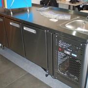 Стол холодильный UNIT® серии RT (RT2S-4B-R-C) фото