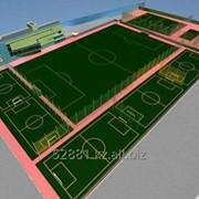 Строительство мини-футбольных полей, Исскуственный газон, Исскуственная трава фото
