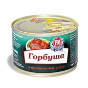Горбуша в томатном соусе, банка №6 с ключом easy open фото