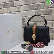 Сумка Gucci Гуччи Sylvie Top Handle Гуччи Клатч фото