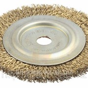 Щетка дисковая для угл шлиф маш, стальная, 22мм / 125мм Код:3518-125-22 фото