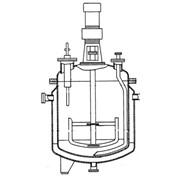 Реакторы с рамными мешалками трубами передавливания и съемными крышками фото