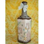 Декорированная бутылка. Подарки ручной работы фото