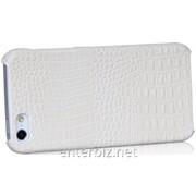 Чехол Borofone for iPhone 5/5S Crocodile Leather Back Cover case White (BI-BL009W), код 56092 фото