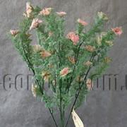 Ветка декоративная 46 см с розовым соцветием 570177 фото