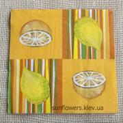 Салфетка декупажная 33х33см (1шт) Лимоны фото
