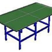 Антивандальный теннисный стол металлический фото