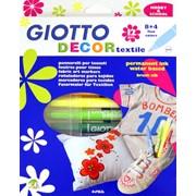 Фломастеры GIOTTO DECOR TEXTILE, 12 цв, для декор. по ткани, е/п (FILA) фото