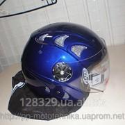 Шлем DVK QL-K51 синий без челюсти фото