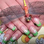 Наращивание ногтей: аквариумный эффект фото