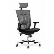 Кресло компьютерное Halmar AMBASADOR (черный/серый) фото