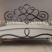 Кованая кровать ручной работы под заказ фото