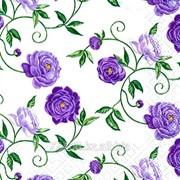 Салфетка для декупажа Фиолетовые розы принт фото