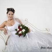 Оформление букета невесты фото