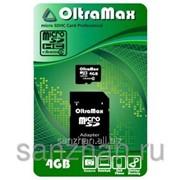 Карта памяти microSD 4 Gb+SD адаптер 4 класс 87222 фото