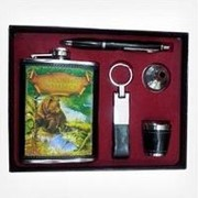 Фляжка подарочная, стопка, брелок, ручка TZ-001 фото