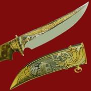 Нож Рысь и лайки 353*200*44*4 фото