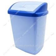 Ведро пластиковое конверт 16л. (голубое) фото