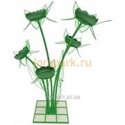 Цветочница крокус 5.1 c лепестками и листьями фото
