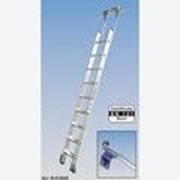 Алюминиевая лестница для стеллажей, со ступенями 6 шт для круглой шины Stabilo KRAUSE 819314 фото