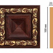 Цветная лепнина вставка Decomaster D207-1084 (100*100*22 мм) Декомастер фото